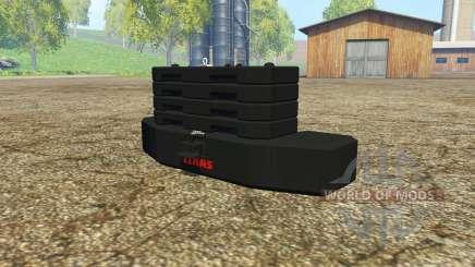 Weight CLAAS para Farming Simulator 2015
