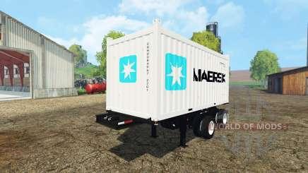 Container semitrailer para Farming Simulator 2015