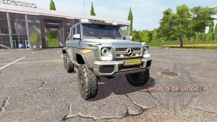 Mercedes-Benz G65 AMG 6x6 v1.2 para Farming Simulator 2017