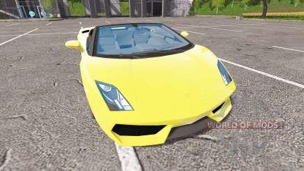 Lamborghini Gallardo Spyder v2.0 para Farming Simulator 2017