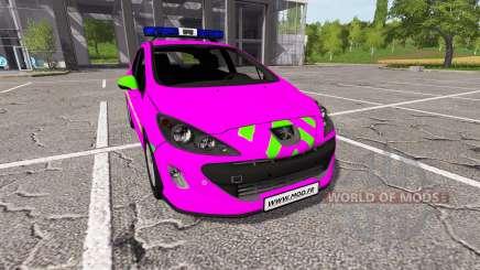 Peugeot 308 (T7) Police v1.3 para Farming Simulator 2017