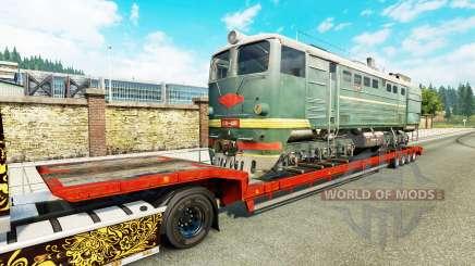 Semi-reboques com zeleznodoroznyj a linha de v1.7 para Euro Truck Simulator 2