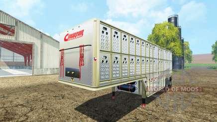 Cimarron livestock Trailer v0.9b para Farming Simulator 2015