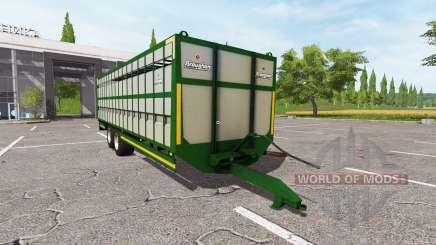 Broughan 28Ft cattle green para Farming Simulator 2017