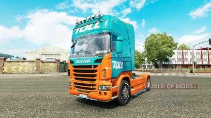 Pedágio pele para o Scania truck para Euro Truck Simulator 2