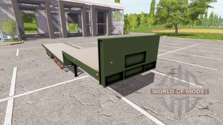 Flatbed low loader para Farming Simulator 2017