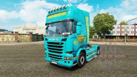 A pele Cazaquistão para trator Scania para Euro Truck Simulator 2