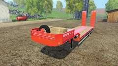 Galtrailer lowboy para Farming Simulator 2015