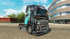 Azul-Menina de pele para a Volvo caminhões