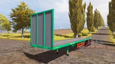 Aguas-Tenias bale semitrailer para Farming Simulator 2013