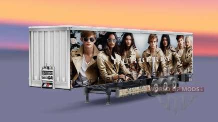Peles de marcas de luxo no trailer para Euro Truck Simulator 2