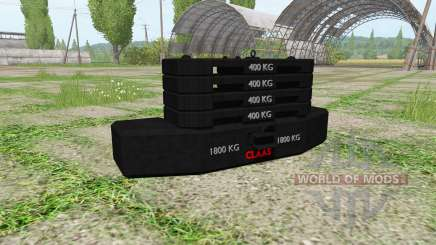 Weight CLAAS para Farming Simulator 2017