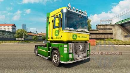 Pele John Deere trator Renault Magnum para Euro Truck Simulator 2