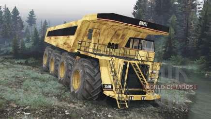 Caminhão de Dump 8x8 v1.1.2 para Spin Tires