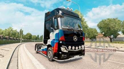 Peles bandeira russa no Mercedes-Benz Actros MP4 para Euro Truck Simulator 2