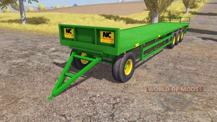 NC Engineering bale trailer para Farming Simulator 2013