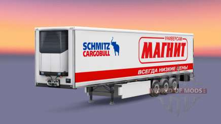 Peles de empresas russas na traseira de um semi para Euro Truck Simulator 2