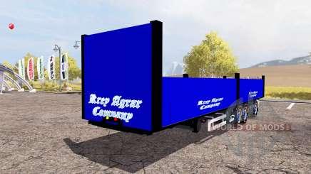 Ekeri bale semitrailer para Farming Simulator 2013