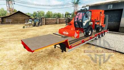 De baixo da cama semi-reboques com cargas v2.2 para Euro Truck Simulator 2