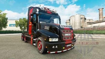 Pele Ferrari no caminhão Iveco Strator para Euro Truck Simulator 2