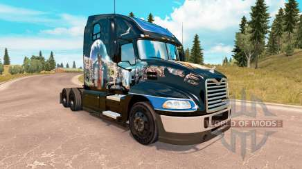 A pele do Verão Indiano no Mack Pinnacle trator para American Truck Simulator