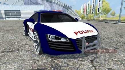 Audi R8 Police para Farming Simulator 2013