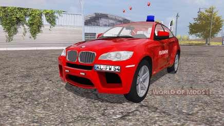 BMW X6 M (Е71) corpo de bombeiros para Farming Simulator 2013
