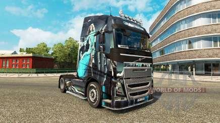 Azul-Menina de pele para a Volvo caminhões para Euro Truck Simulator 2
