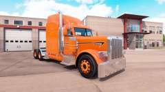 Laranja da pele para o caminhão Peterbilt 389