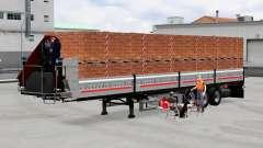 Mesa semi-reboque com carga
