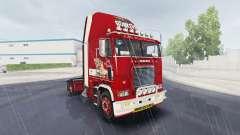 Pele Little Miss no caminhão Freightliner FLB