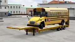 Baixa varrer com a carga de ônibus
