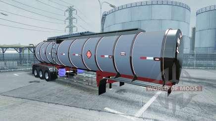 Chrome tanker 3-axle para American Truck Simulator