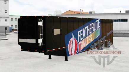 Featherlite semitrailer v1.3 para American Truck Simulator