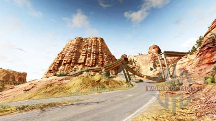 Canyon of speed v1.8 para BeamNG Drive