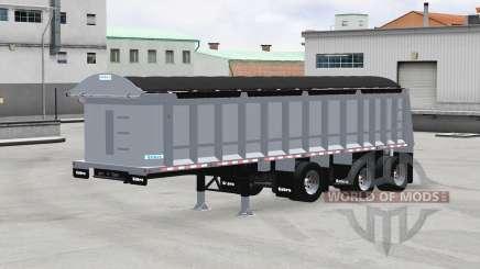 Cobra tri-axle dump trailer para American Truck Simulator