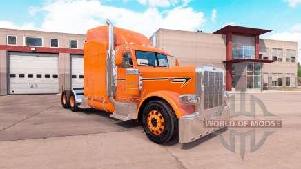 Laranja da pele para o caminhão Peterbilt 389 para American Truck Simulator