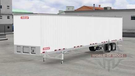Todo em metal, semi-reboque Fruehauf para American Truck Simulator