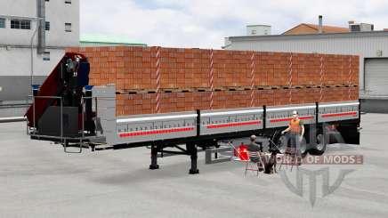 Mesa semi-reboque com carga para American Truck Simulator