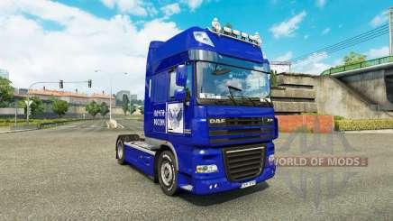 Pele Post da Rússia no truck DAF XF para Euro Truck Simulator 2