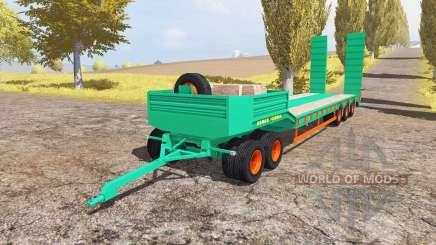 Aguas-Tenias lowboy 5-axis v2.0 para Farming Simulator 2013
