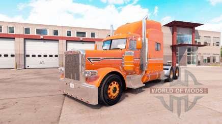 Laranja da pele para o caminhão Peterbilt 389 v1.1 para American Truck Simulator