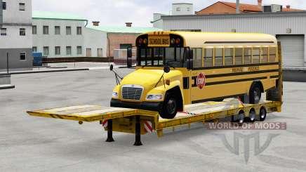 Baixa varrer com a carga de ônibus para American Truck Simulator