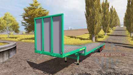 Aguas-Tenias platform trailer v2.0 para Farming Simulator 2013