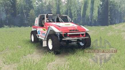 Toyota Land Cruiser (FJ40) Serigala Militia para Spin Tires