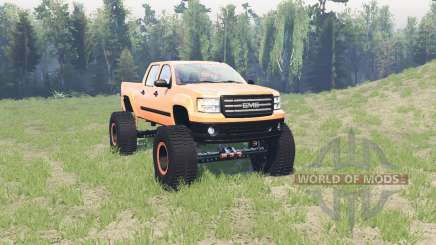 GMC Sierra (GMT900) BigFoot para Spin Tires