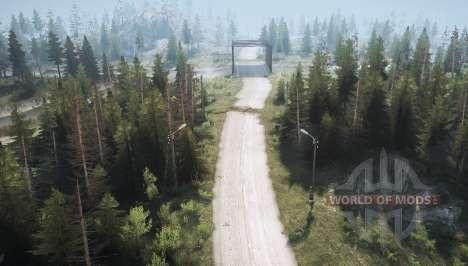 Estrada da floresta 2 para Spintires MudRunner