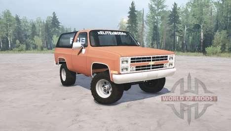Chevrolet K5 Blazer 1985 para Spintires MudRunner
