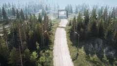Estrada da floresta 2 para MudRunner