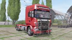 Scania R730 V8 Topline hooklift v1.0.4.3 para Farming Simulator 2017